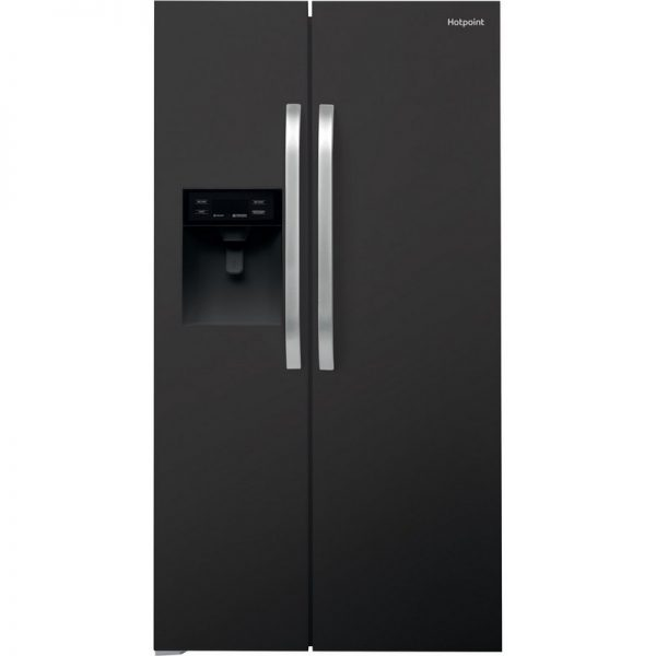Hotpoint American Style Plumbed Fridge Freezer – Black