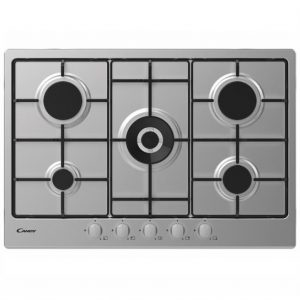 Candy 5 Zone Gas Hob – Stainless Steel
