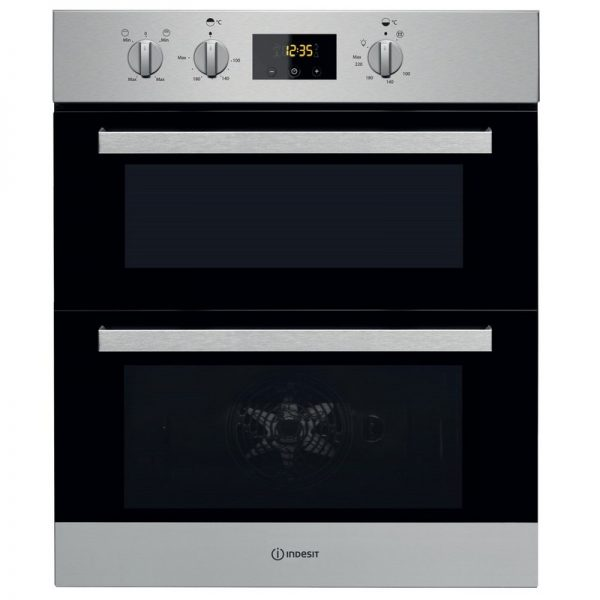 Indesit Built In Double Oven – Stainless Steel