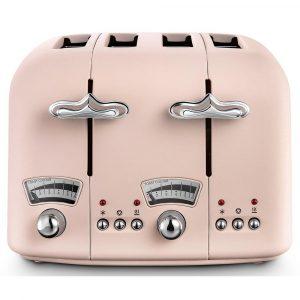 DeLonghi Argento Flora Toaster Pink CT04.PK