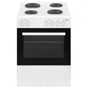 PowerPoint 60CM Single Cavity Cooker with Solid Hob – White