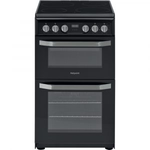 HOTPOINT 50CM ELECTRIC TWIN MULTIFLOW HD5V93CCBUK BLACK